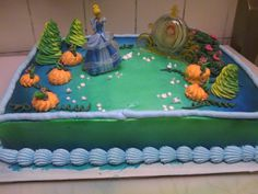 Cinderella Pumpkin Birthday Cake Allee Maes first birthday