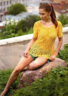 blusa amarilla piñas - CARAMELO ARDIENTE es... LA PRINCESA DEL CROCHET