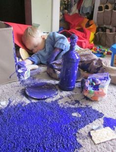 One-eyed, one-horned, sleeping purple paint spreader. | 26 Kids Who Just Don't Give A F**k