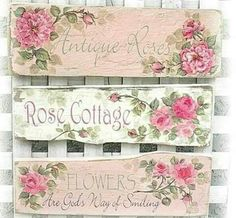 Antique Roses, Rose Cottage, Flowers are God's way of smiling