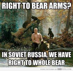 putin bear meme | Vladimir Putin: Right to bear arms in Russia - Funny Vladimir Putin ...