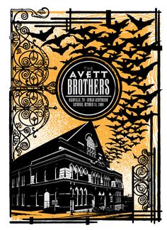 Poster for Nashville, TN show (show #31)