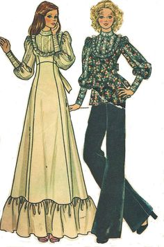 I wonder if leg 'o mutton sleeves will ever come back. 1970s McCalls Sewing Pattern 4249 Womens Boho by CloesCloset