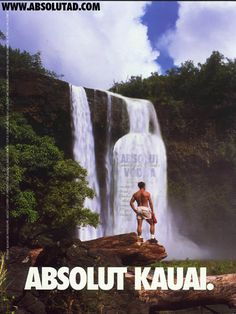Absolut Vodka Ad - Absolut Kauai