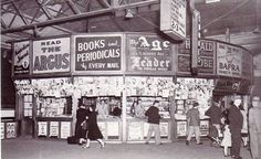 News Stand in the Flinders Street Station in Melbourne in 1960.