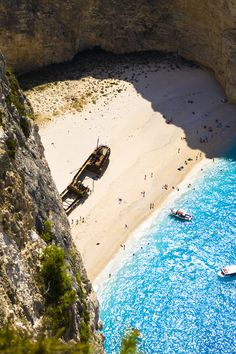 Navagio (the Shipwreck) beach is an exposed cove on Zakynthos island #kitsakis
