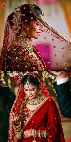 "Photo from Safarsaga Films ""Safarsaga Films - Best Wedding Photographer in Chandigarh - Beautiful Bride - Pankuri Aggarwal"" album Bridal Poses, Bridal Photoshoot, Wedding Poses, Wedding Shoot, Fall Wedding, Wedding Reception, Indian Bridal Photos, Indian Wedding Photography Poses, Engagement Photography"