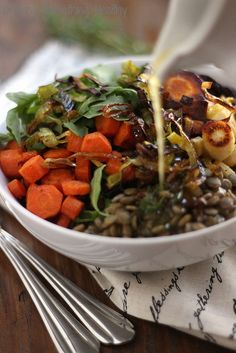 Warm Lentil Salad|Craving Something Healthy //Manbo
