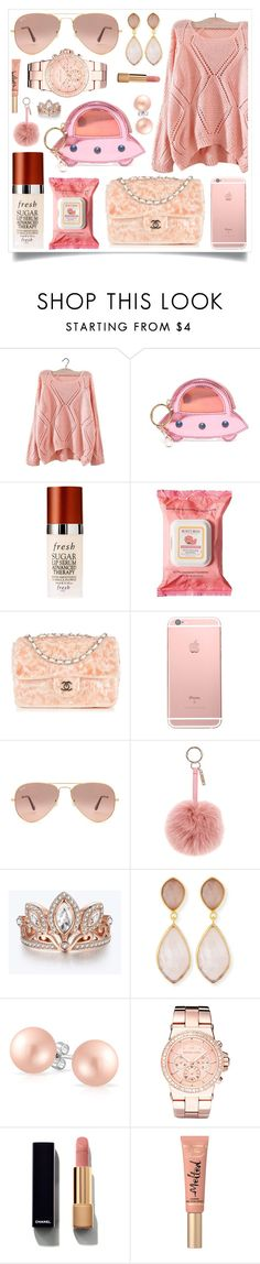 """""""Outside Goals"""" by racanoki ❤ liked on Polyvore featuring Charlotte Olympia, Fresh, Burt's Bees, Chanel, Ray-Ban, Fendi, Disney, Dina Mackney, Bling Jewelry and Michael Kors"""