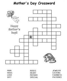 Free Mother's Day Word Search Game for Kids http://www