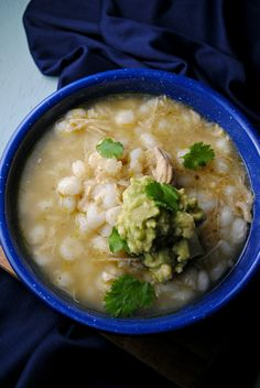 Slow Cooker Posole, a Mexican soup posole (pozole) can be made with chicken or pork, this recipe is flavored with tomatillos and made in a slow cooker.