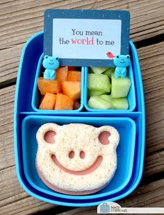 Froggie Camp Snack Bento with a Lunchbox Love for Camp. #lunchnotes #lunch   http://www.sayplease.com/lunchbox-love-camp-vols-1-2-combo-pack