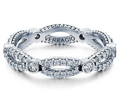 This Verragio makes for a beautiful wedding band or anniversary band. Shop Verragio rings at Vanscoy, Maurer & Bash Diamond Jewelers. Wedding Band Styles, Womens Wedding Bands, Diamond Wedding Bands, Wedding Rings, Verragio Engagement Rings, Verragio Wedding Bands, Birthstone Jewelry, Diamond Jewelry, Diamond Rings