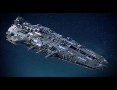 ArtStation - Space Battleship, Misuo WU