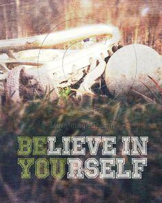 "Lacrosse Motivational Poster Original Design ""Believe in Yourself"" #lacrosse #poster #motivational #lax"