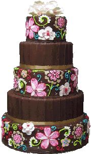Vera Bradley inspired cake design- I could see my bff having this cake!!
