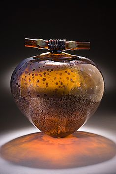 Amber Wish Pot, by Geoff Lee  #Glass #art #hawaii