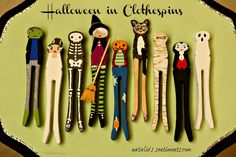 Halloween in clothespins