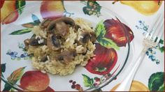 Risotto ai funghi cotto direttamente in forno - Ricette di non solo pasticci