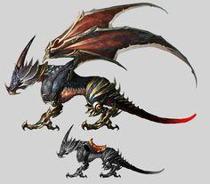 Dragon maduro e inmaduro