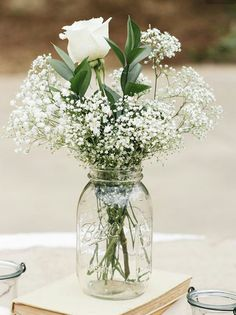 Blumendekoration mit Schleierkraut is part of Flower centerpieces wedding - Fall Wedding, Dream Wedding, Trendy Wedding, Wedding Rustic, Rustic Weddings, Wedding Advice, Beach Weddings, Wedding Ceremony, Wedding Themes