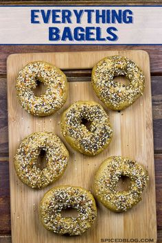 Homemade Everything Bagels | Spiced