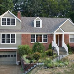 Brick House With Siding Remodel,