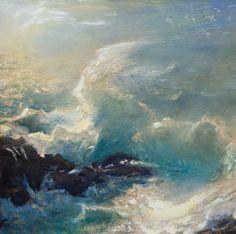 Gordon Brown, Rough Seas, oil, 24 x - Southwest Art Magazine Gordon Brown, Rough Seas, Beach Paintings, Rocky Shore, Southwest Art, Beautiful Ocean, Magazine Art, Oceans, Aesthetic Pictures