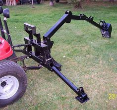 """Gallery – Category: Customers Pics: The """"Micro Hoe"""" for small tractors – DIY Geschenke und Hochzeit Yard Tractors, Small Tractors, Compact Tractors, Garden Tractor Attachments, Old Garden Tools, Tractor Accessories, Atv Accessories, Homemade Tractor, Tractor Loader"""