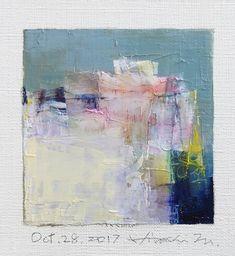 "Oct. 28, 2017 9 cm x 9 cm (app. 4"" x 4"") oil on canvas © 2017 Hiroshi Matsumoto"
