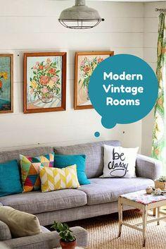 Check some modern vintage rooms -http://www.homedecordesigns.com/modern-vintage-room/