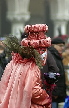 Carnival in Piazza San Marco, the main square of Venice.