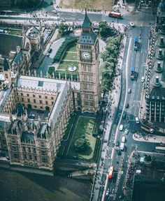 Above the Houses of Parliament and Big Ben