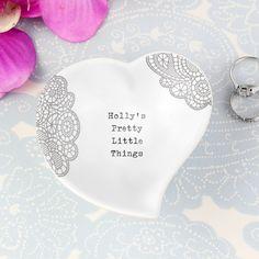 Dainty Lace Ceramic Ring Dish#GiftsForWomen #PersonalisedGifts