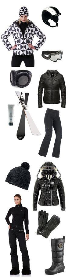 Modest Fashion, Modest Style, Ski Clothing, Skiwear, Utah Ski Apparel, Bogner winter ski coat, ski helmut ski goggles, aether apparel black ...