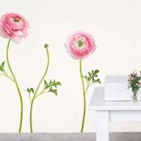 Nouvelles Images muurstickers roze bloemen ranonkels