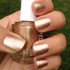 """Essie """"Penny Talk"""" I just bought it and covered with Essies's Matte finish. Soooooo pretty!"""