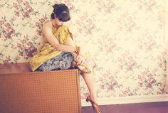 vintage floral + petticoats via @Solanah Cornell