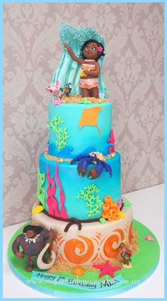 I love the Ocean at the top Moana Themed Party, Moana Birthday Party, Moana Party, Luau Birthday, Luau Party, Birthday Parties, Birthday Cakes, Birthday Ideas, Bolo Moana