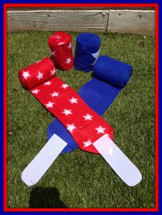 Polo Wraps for Horses in Patriotic Red/White by RangoHillRanch