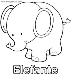 Coloring Page 2018 for Colorear Elefante, you can see Colorear Elefante and more pictures for Coloring Page 2018 at Children Coloring. Animal Coloring Pages, Coloring Sheets, Coloring Books, Colouring, Quilt Baby, Applique Templates, Applique Designs, Animal Paintings, Animal Drawings
