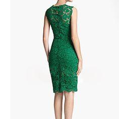 Encaje O-Cuello del bordado Vestido sin mangas de la Mujer - USD $ 23.39