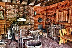 interior of historic blacksmith shop, Manatee Village Historical Park, Bradenton, FL