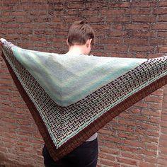 Portland Shawl pattern by Judy Marples