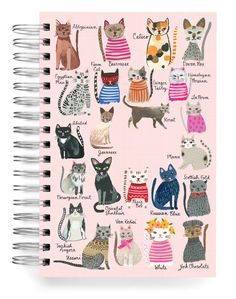 NEW :: Cool Cats A-Z Jumbo Journal - Ecojot - eco savvy paper products National Cat Day, Russian Blue, All About Cats, Cat Drawing, Crazy Cats, Cool Cats, Cat Art, Cat Lovers, Dog Cat