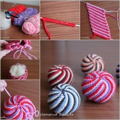 Crochet Ball, Knit Crochet, Needle Case, Loom Bands, Swirl Pattern, Baby Knitting, Knitting Needles, Handmade Toys, Yarn Crafts