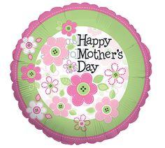 """#burtonandburton 4"""" Flat Happy Mother's Day Balloon. #mothers_day #mothers_day_balloons #gift"""
