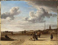 Adriaen van de Velde, The Beach Scheveningen, 1670, Gift of Mr. and Mrs. Edward William Carter, M.2009.106.14, LACMA