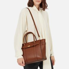 Buy Mulberry Small Bayswater Zipped Grain Veg Tanned Leather Tote Bag, Oak from our Handbags, Bags & Purses range at John Lewis & Partners. Mulberry Purse, How To Dye Fabric, Tan Leather, Tote Bag, Natural, Luxe Life, Luxury Handbags, Hand Bags, Plays