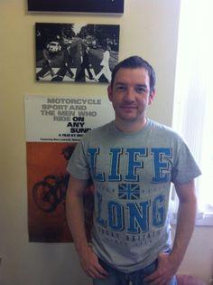 James sporting his Life Long t-shirt